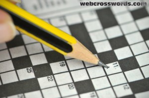 Filling out a Crossword Puzzle with a lead pencil